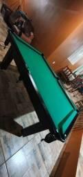 Mesa Tentação 1,93 x 1,18 Cor Preta Tecido Verde Mod. AZNG6438