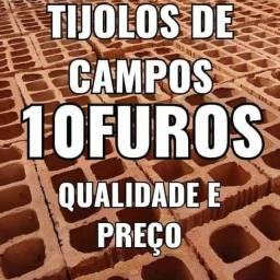 Tijolos De Campos 10 furos ( Entrega rápida  )