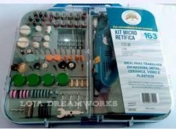Kit Micro Retífica Retificadora Com Maleta 163pçs 135w