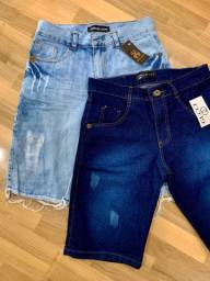 2 bermudas jeans por R$90,00 ?