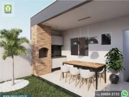 Casa de 3 Quartos | Varanda Gourmet | Terreno com 34m de comprimento