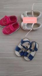2 lindos calçados infantis - menina