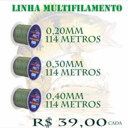Linha Multifilamento, Vários modelos na Promoção. Tem de 100 metros ou de 300 metros
