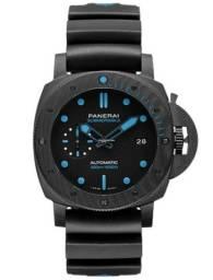 Relógio Masculino Panerai Submersible Preto e Azul - Novo