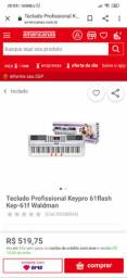 teclado profissional waldman keypro 61