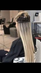 Manutenção de mega-hair em todos os métodos