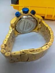 Relógio invicta Zeus Bolt - Dourado azul - caixa premium