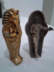 Oferta Artesanato Egipcio Sarcofago , Tumulo e Mumia 15 cm