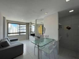 Apartamento Mobiliado em Boa Viagem | 1 Quarto Suíte | Andar Alto | 38m² | Area de Lazer |
