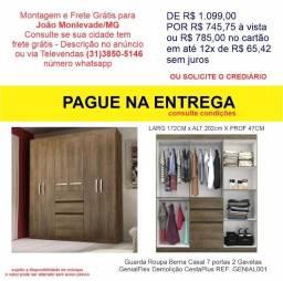 Guarda Roupa Berna Casal 7 portas 2 Gavetas GenialFlex Demolição CestaPlus