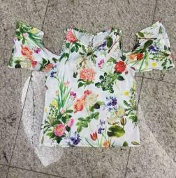 Blusa Estampada de Cetim