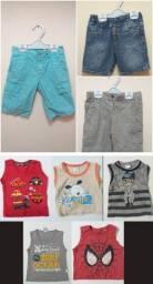 Lote Short e camiseta menino - 8 peças - Tam. 2