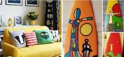 Pranchas Surf Linda Decoração  Casa Moderna
