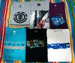 Camisetas de marcas (Surfista e skatista)