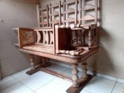 Mesa Colonial 1,90x1,00 6 cadeiras