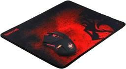 Mousepad + Mouse sem fio Redragon M601 - Preto e vermelho