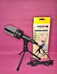 Microfone Condensador com Tripé A Pronta Entrega