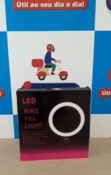 Iluminador Led Ring Light 26x26cm Tripé 1,80m ? Entrega grátis *