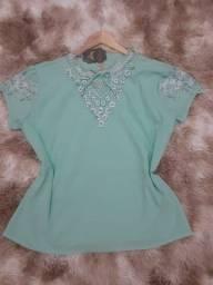 Blusa Plus Size Nova ,com bordado