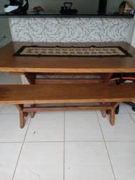 Mesa de madeira marítima