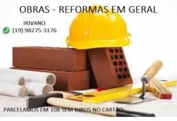Serviços de pedreiro - azulejos, pisos, reformas, paredes, pintura, elétrica, telhado