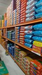 Estante Prateleira reforçada porta ração pet shop estante para estoque caixas peças 500 kg