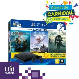 Playstation 4 Slim Bundle 1Tb God Of War, Horizon Zero Dawn e Shadow Of The Colossus