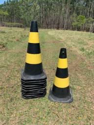12 Cones de Sinalização Plasticor 75 cm