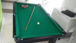 Mesa Tentação Quatro Pés Cor Tabaco Tecido Verde Mod. HOCK1694