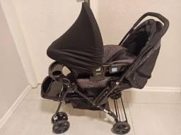 Carrinho de Bebê + Bebê Conforto - Marca Cosco<br>