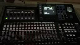 Mesa de gravação digital tascam dp 24 sd impecável!!