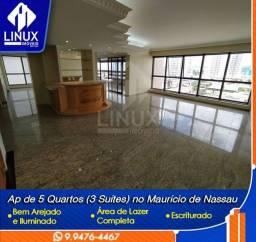 Apartamento de 330 m² com 05 quartos (3 suítes) para Venda em Caruaru/PE.