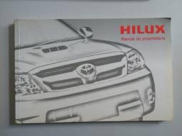 Hilux 2007 e 2008 - Só manual de Instrução original