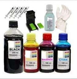Tinta para empresorahp 2676 650 Ml Kit Tinta Recarga Impressora l 2676 hp