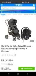 Carrinho berço + bebê conforto Galzerano