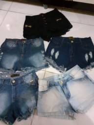Shorts jeans conservados
