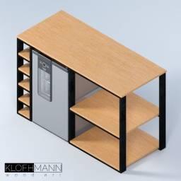 Aparador com adega e espaço para frigobar (M)