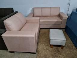 Conjunto de sofá novo no Isadora Móveis