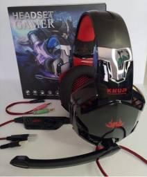 Headset Gamer Pc P2+usb Com Mute E Adaptador P2 Kp 455
