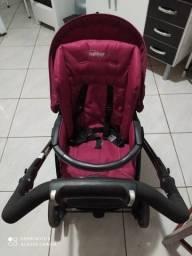 Carrinho e bebê conforto peg perego e cadeira de descanso fisher price