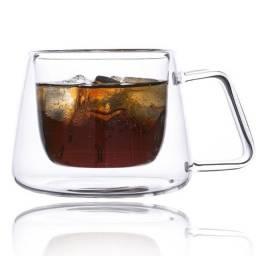 Xícara de Vidro Para Café 180ml (Elegance Para Sublimação) - 2707