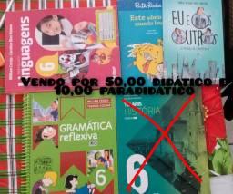 Livros Dedático 6 ano gramática reflexiva e português linguagens
