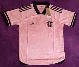 Camisa do Flamengo Rosa (Disponível: M e GG)