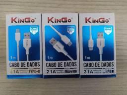 Cabo kingo Para Iphone - Micro USB v8 - Tipo C