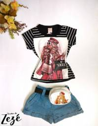 Conjunto Mini Blogueirinha - Conjunto Mini Influencer - Jeans