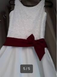 Vestido Daminha honra R$ 150.00
