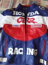 Jaqueta 100% Couro Bovino Honda Racing