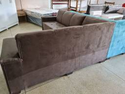 Sofá de canto grande novo