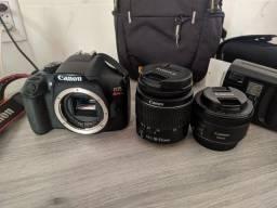 Canon T6 usada + Lentes 18-55mm + flash + acessorios