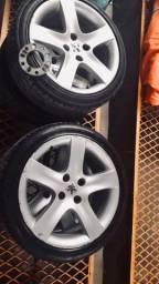 Rodas 17 4x108 com pneus 205/45 novos